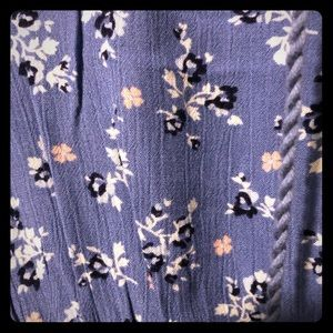 Justice Gauze blue floral dress